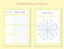 printable planner diary color printable planner set stock illustration illustration of