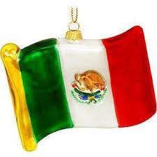 mexico flag glass ornament ethnic pride ornaments