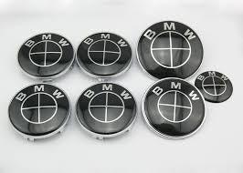 black and white bmw logo bmw all black emblem badge set 7pcs e46 e90 88gogoshop bmw