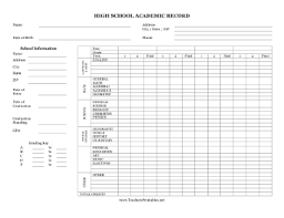 transcript of a high student u0027s academic record free to