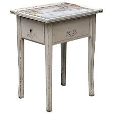 antique dutch tile painted pine side table