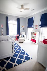 Navy Accent Wall by Parker U0027s Nursery Red Nursery Nursery And Navy Blue