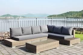 canapé de jardin en résine tressée salon d extérieur en résine tressée salon de jardin en resine en