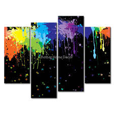 splash home decor 3 piece wall art painting color splash print on canvas the picture