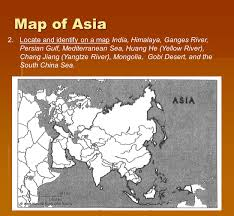 Himalayan Mts Map Vocabulary Terms India And China 1 Define The Following Terms