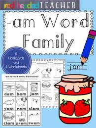 7 best am word family images on pinterest family words
