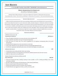 Profile Sample Resume by Administrative Assistant Resume Example Free Admin Sample