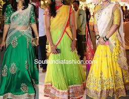 half saree designs south india fashion