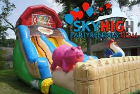 Fisher Price Barn Bounce House Crazy Farm Water Slide Houston Sky High Party Rentals