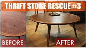 thrift store rescue 3 mid century furniture refinish u0026 reglue