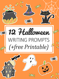 12 halloween writing prompts for kids free printable imagine