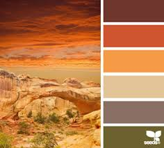 10 color palettes and hex codes perfect for the autumn fall