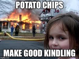 Potato Girl Meme - disaster girl meme imgflip