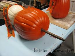 pumpkin topiary how to make a pumpkin topiary again the interior frugalista