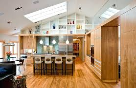 high ceiling light fixtures high ceiling lighting sloped ceiling lights kitchen modern with wood