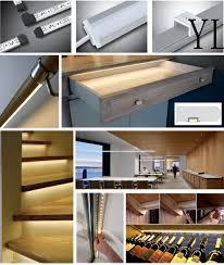under cabinet led strip lights kit aliexpress com buy aluminum led strip fixture channel 2 meter