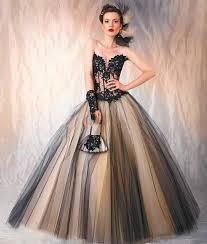 robe de mari e gothique robes de mariée gothique noir chagne tulle applique