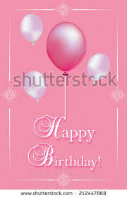 Design And Print Birthday Cards Pink Birthday Card Print Printable Birthday Stock Vector 212447668
