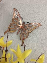 copper butterflies set 3 butterflies wall art metal