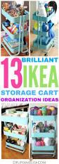 Ikea Craft Cart 13 Brilliant Ways To Organize With An Ikea Raskog Rolling Cart