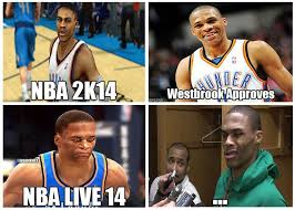 Hilarious Nba Memes - nba memes on twitter russell westbrook s thoughts on nba 2k14 vs