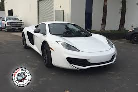 custom mclaren mp4 12c mclaren mp4 12c wrapped in 3m gloss white car wrap wrap bullys