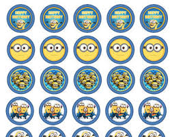 minions cake toppers minion despicable me inspired idea for kids birthday party