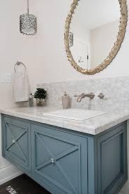 Powder Bathroom Vanities Eggshell Blue Powder Room Transitional With Towel Ring
