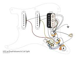 hss guitar w dual volumes master tone and coil split youtube