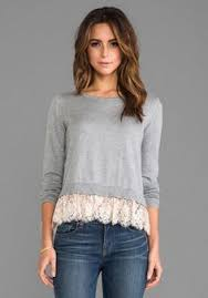 sweater with refashioned sweater with lace fashion refashioning