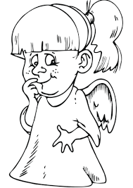 angel coloring free printable coloring pages