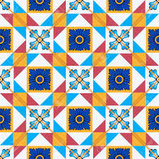 gorgeous seamless pattern from moroccan portuguese tiles azulejo