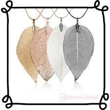 real leaf necklace images Real leaf necklace millennia outlet png