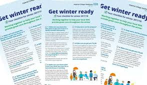 imperial healthcare help us get winter ready