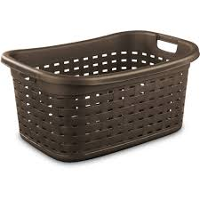 Canvas Laundry Hamper by Sterilite Weave Laundry Basket Warm Chocolate Case Of 5