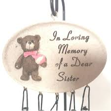 loving memory of a dear sister wind chimes u0026 stake memorial