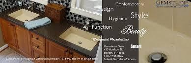 Sink Bowl On Top Of Vanity Gemstone Home