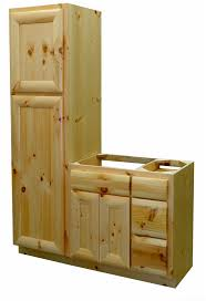 Bathroom Vanity With Linen Cabinet Top Knotty Pine Vanity Knotty Pine Log Linen Cabinet Log Home