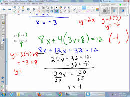 chapter 3 lesson 8 solve systems of equations algebraically youtube