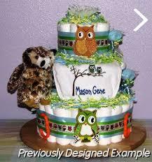 baby boy diaper cakes baby owl plush diaper cake