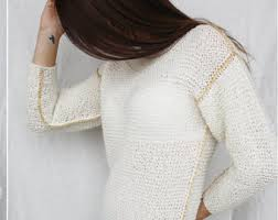 white wool sweater transparent sweater etsy
