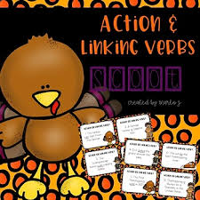 and linking verbs scoot thanksgiving themed by