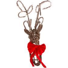 Deer Head by Wall Mount Natural Twig Deer Head 3352343 Craftoutlet Com