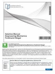 mechanics for engineers dynamics 5th edition solutions manual beer