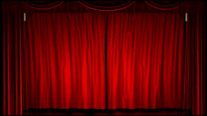 Curtains On A Stage Red Stage Curtain On Black Background Loop Able 3d Render