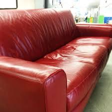 Beautiful Red Leather Sofa Portland Metro And Clark County ReStores - Leather sofa portland 2