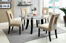 classic formal dining room sets design using wooden round table