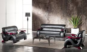 black modern bonded leather sofa set 2033 black modern bonded leather sofa set