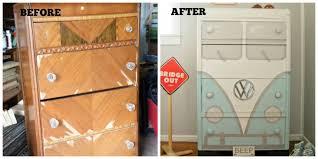 volkswagen bus dresser makeover how to revive garage sale furniture