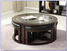 round coffee table with seats